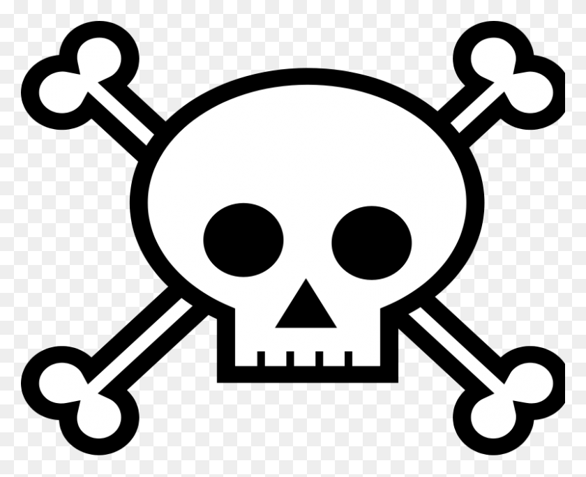 Free Png Pirate Skull Transparent Pirate Skull Images - Skull And Bones PNG