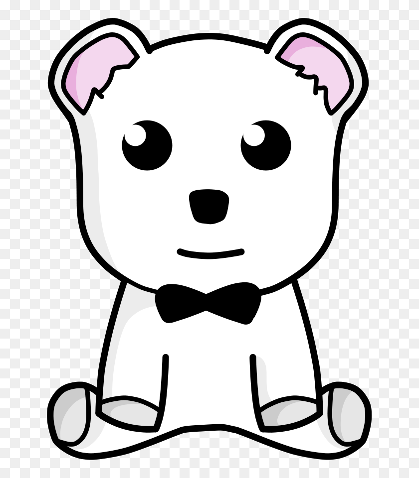 Free Polar Bear Clipart - Polar Bear Black And White Clipart