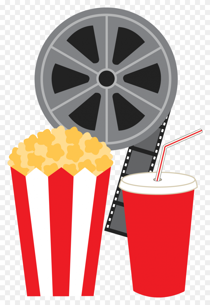 Free Popcorn Clipart Image Movie Reel Clip Art Popcorn - Popcorn Kernel PNG