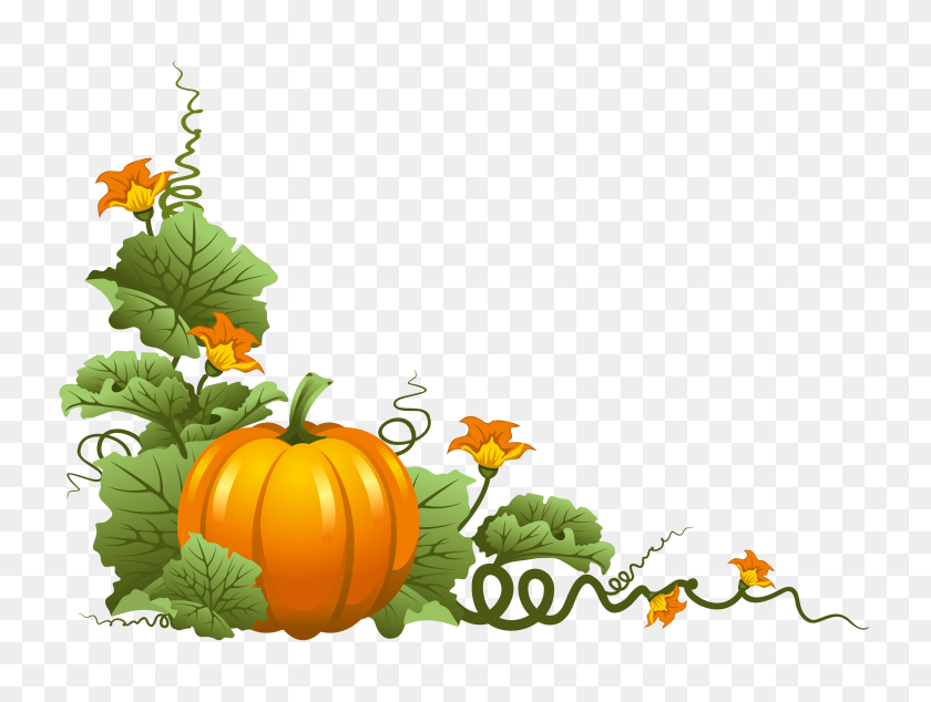 Free Printable Borders Pumpkin Clipart - Happy Thanksgiving Turkey Clipart