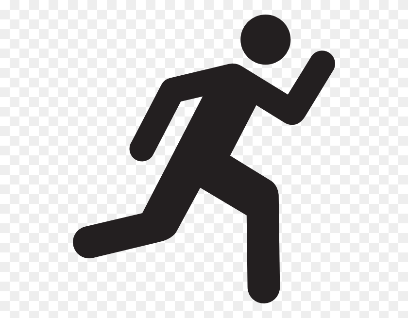 Free Runner Clip Art - Person Clipart Black And White
