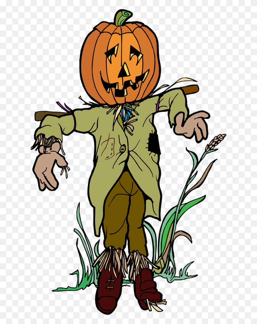 Free Scarecrow Thinking Cliparts - Halloween Clipart Free