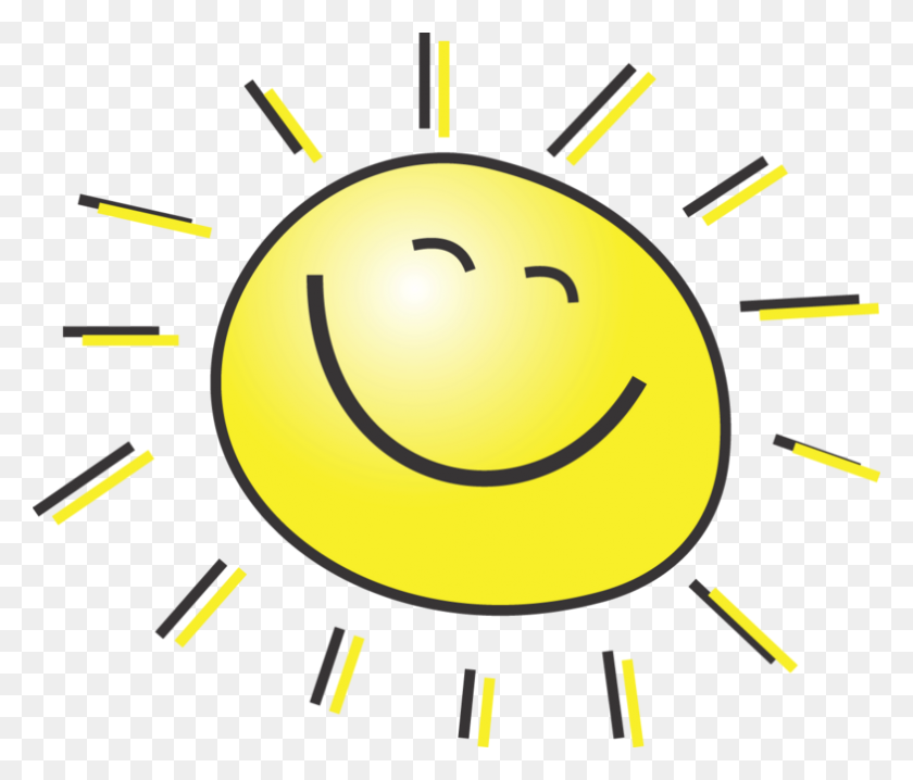 Free Smiling Sunshine - Moon And Sun Clipart