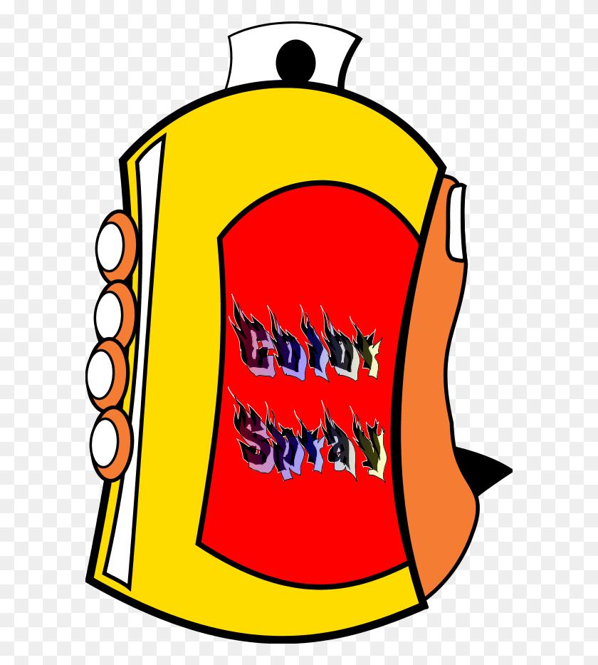 Free Spray Can Cartoon - Tin Clipart