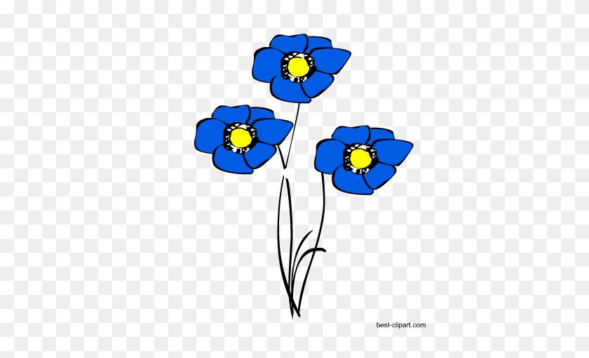 Free Spring Boho Clip Art - Poppy Clipart