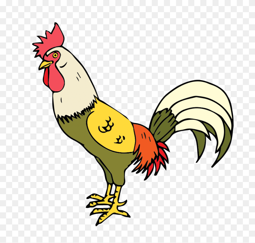 800x760 Free To Use - Free Rooster Clipart