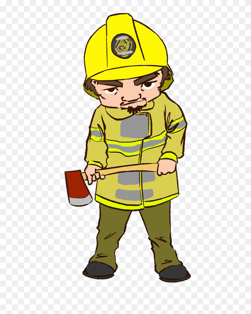 Free Tough Fireman Clip Art - Tough Clipart