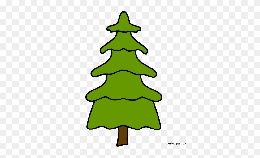 Free Tree Clip Art Images In Png Format - Pine Tree PNG