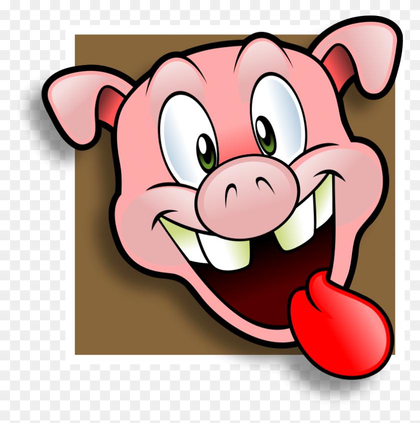 Free Wacky Pig Face Avatar Clip Art - Mage Clipart