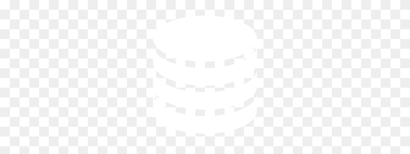 Free White Database Icon - White Oval PNG