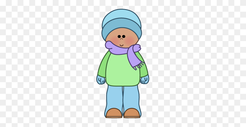 Free Winter Kids Clipart From Clip Art - Winter Coat Clip Art