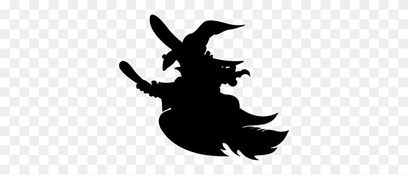 Free Witch Clipart - Witch On A Broomstick Clipart