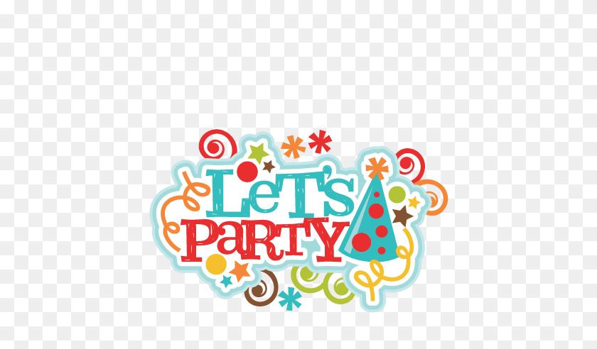 Freebie Of The Day! Let's Party Title Clip Art - Title Clipart