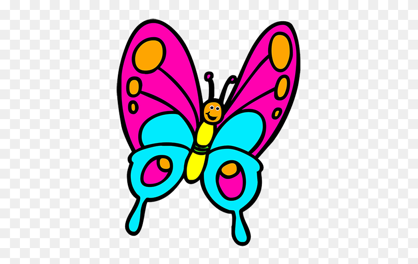 Fresh Butterfly Cartoon Image Butterfly Clip Art Butterfly Clipart - Simple Butterfly Clipart