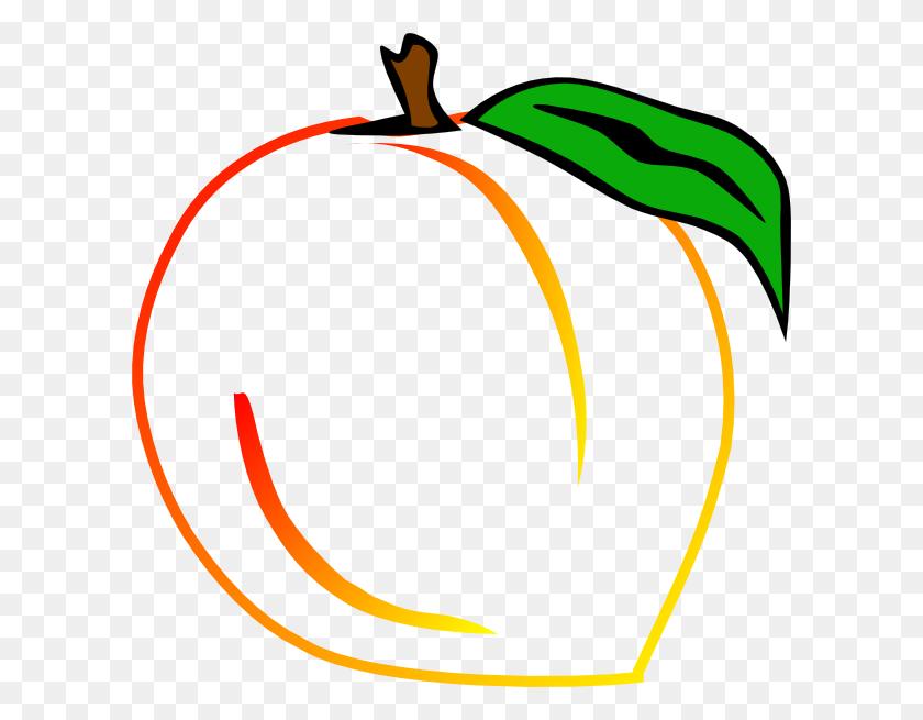 Fresh Peach Clip Art - Peach Clipart