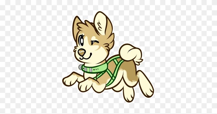 Freya - Sled Dog Clip Art