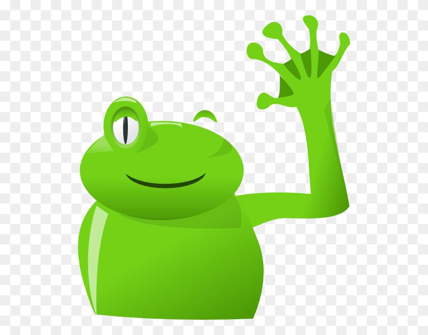 Frog Wave Left Clip Art - Wave Goodbye Clipart