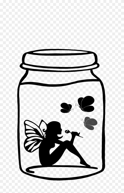 Ftestickers Elf Fairy Butterflies Jar - Mason Jar Clipart PNG