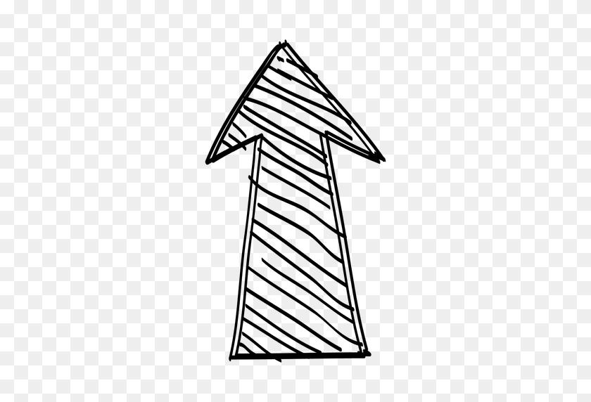 Funky Forward Arrow Drawing - Drawing PNG