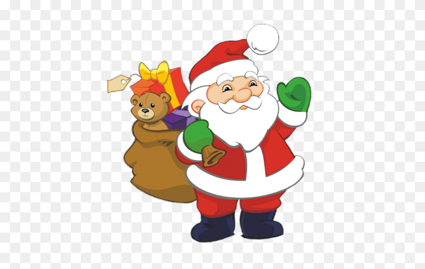 Funny And Free Santa Claus Clipart - Simple Christmas Clipart
