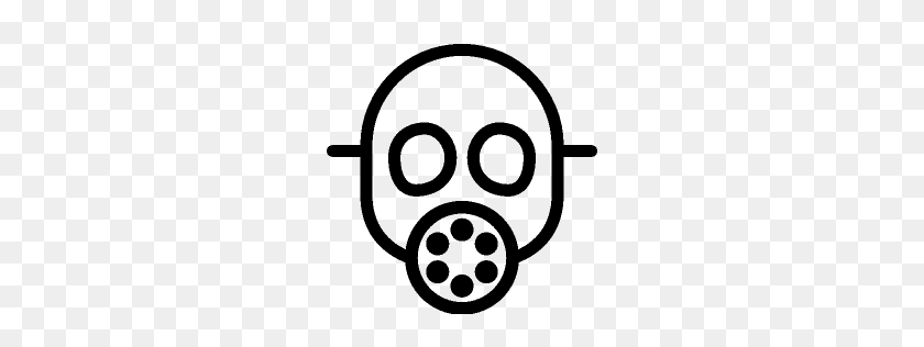 256x256 Gas Mask Clipart Mac - Mac Clip Art