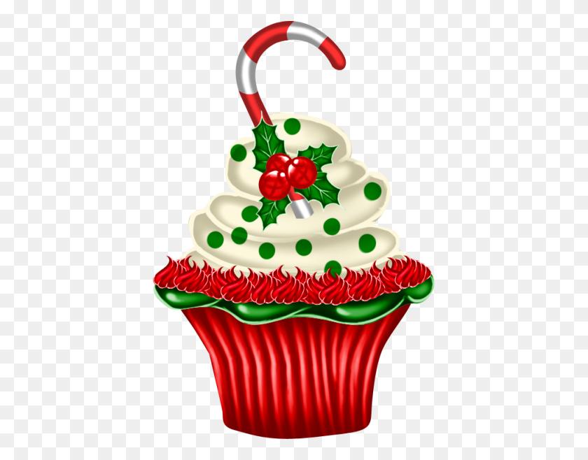 Gateaux,tubes,noel Clip Art Cupcakes Christmas - Noel Clipart