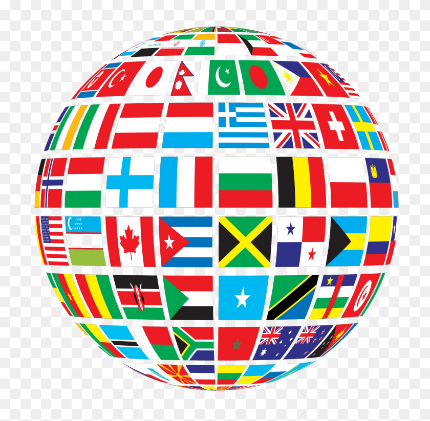 Gdj World Flags Globe - World Flags Clipart