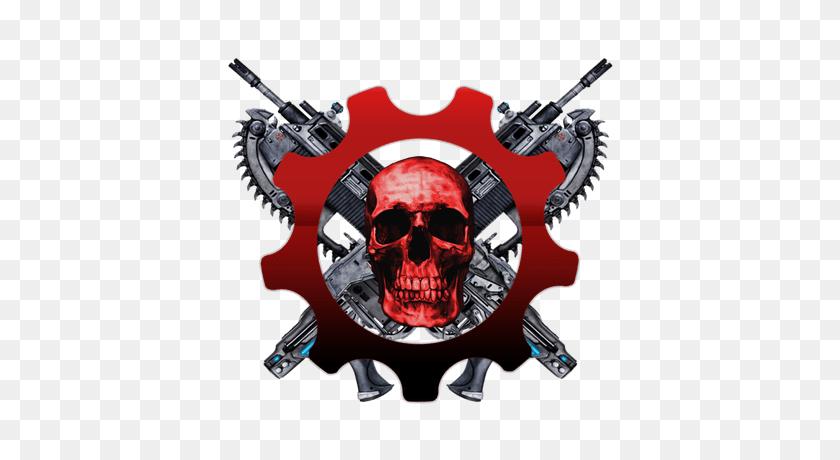 Gears Of War Skull Logo Transparent Png - Gears Of War Logo PNG