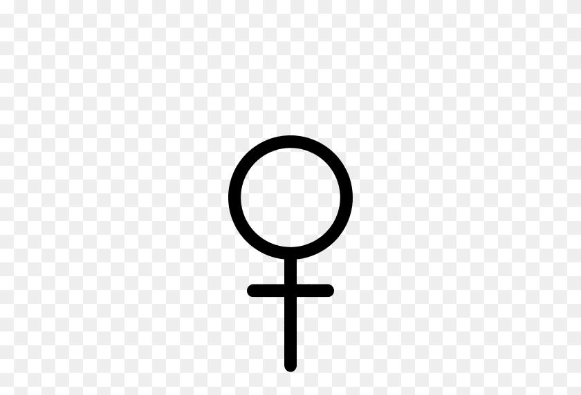Gender Symbol Female Dark Transparent Background - PNG Clear Background