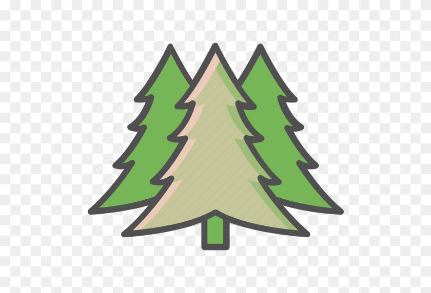 Generic Trees, Pine Trees, Shrub, Trees Icon - Shrub PNG