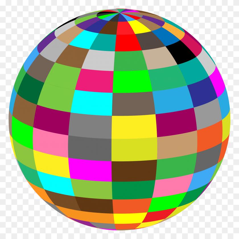 2188x2188 Geometric Beach Ball Icons Png - Beach Ball PNG