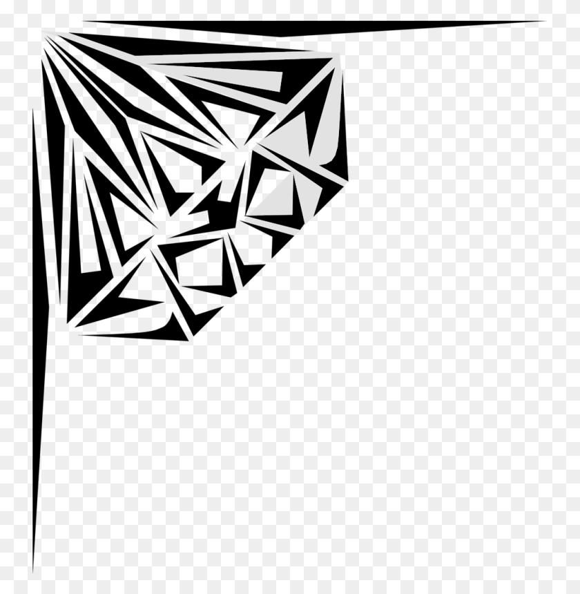 Geometric Diamond Clip Art - Diamond Border Clipart