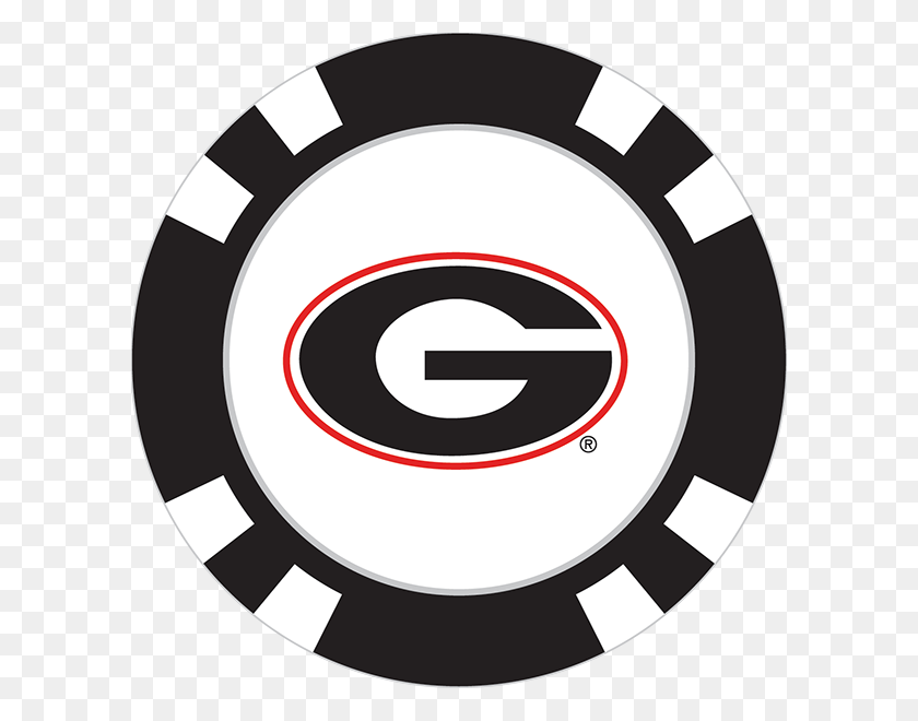Georgia Bulldogs Poker Chip Ball Marker - Georgia Bulldogs Logo PNG
