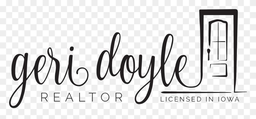 Geri Doyle Realtor Logo Black Geri Doyle Realtor - Realtor Logo PNG