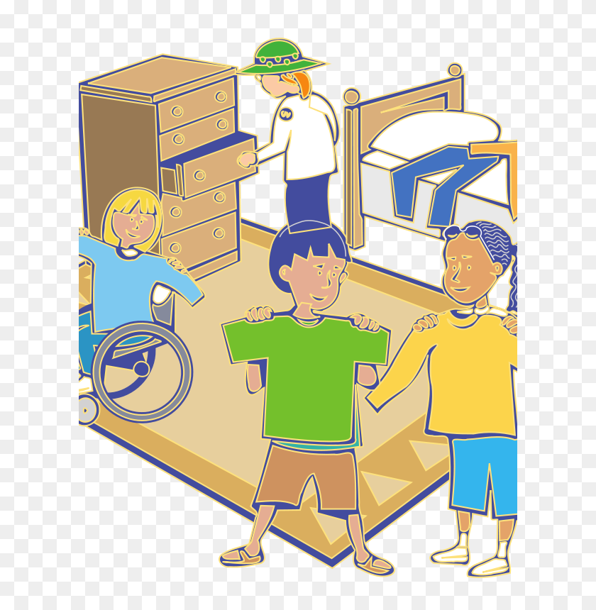 Getting Dressed Clipart - Boy Getting Dressed Clipart