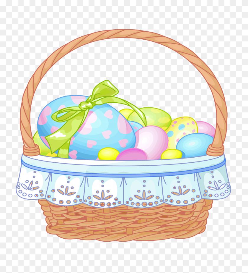Gift Basket Easter Basket Clipart - Easter Basket Clipart