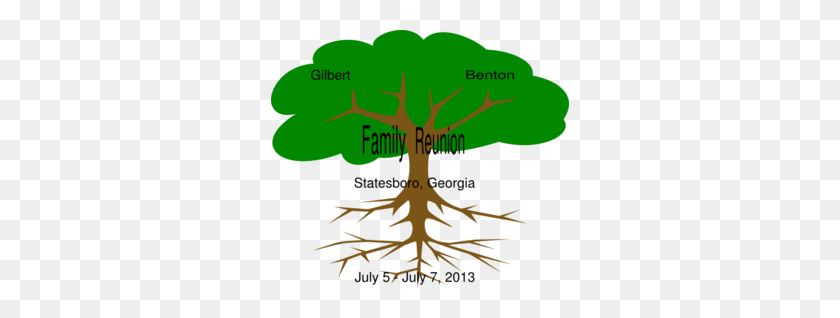 Gilbert Benton Family Reunion Clip Art - Family Reunion Tree Clipart