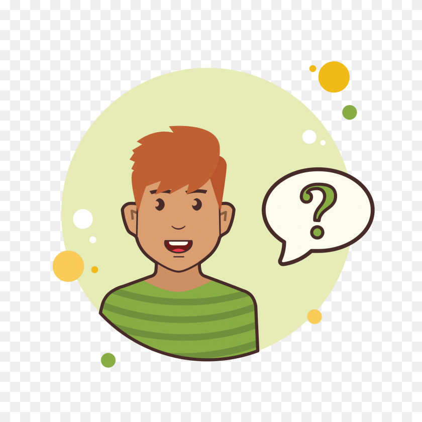 Ginger Man Question Mark Icon - Ginger PNG