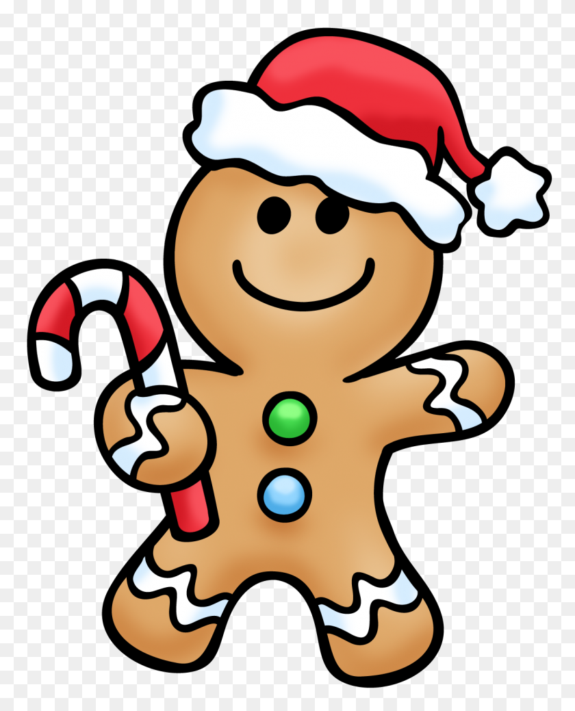 Gingerbread Man Free Printable Gingerbread Clip Art Image - Gingerbread House Clipart