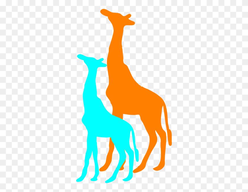 Giraffe And Baby Giraffe Clip Art - Zap Clipart