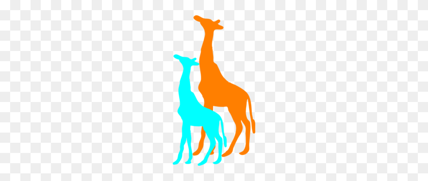 Giraffe And Baby Giraffe Clip Art - Baby Giraffe Clipart