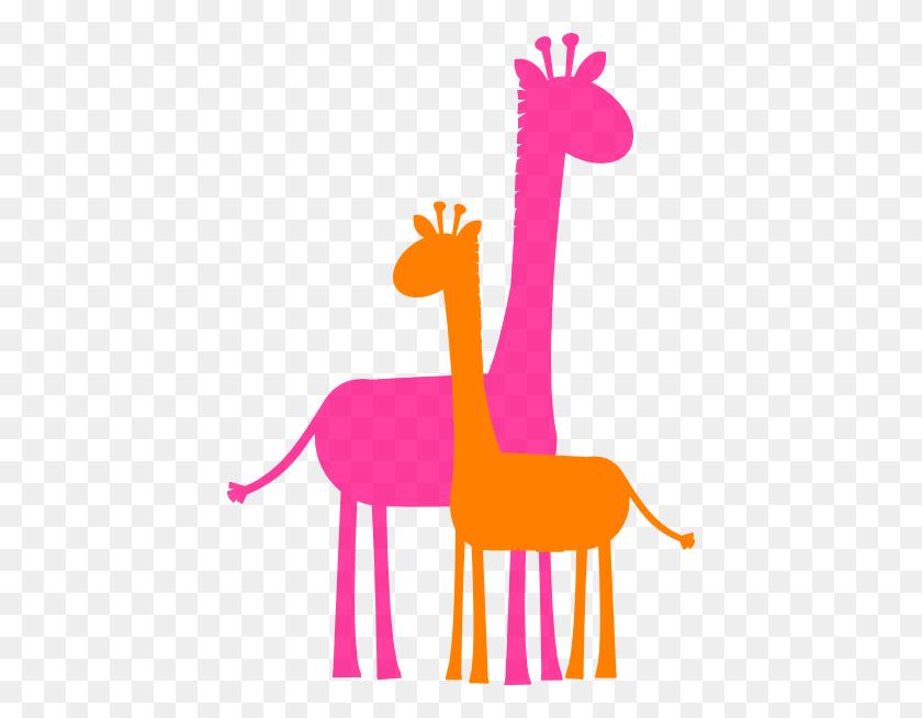 Giraffe Caricature Mother And Baby Giraffe Sillouette Clip Art - Posture Clipart