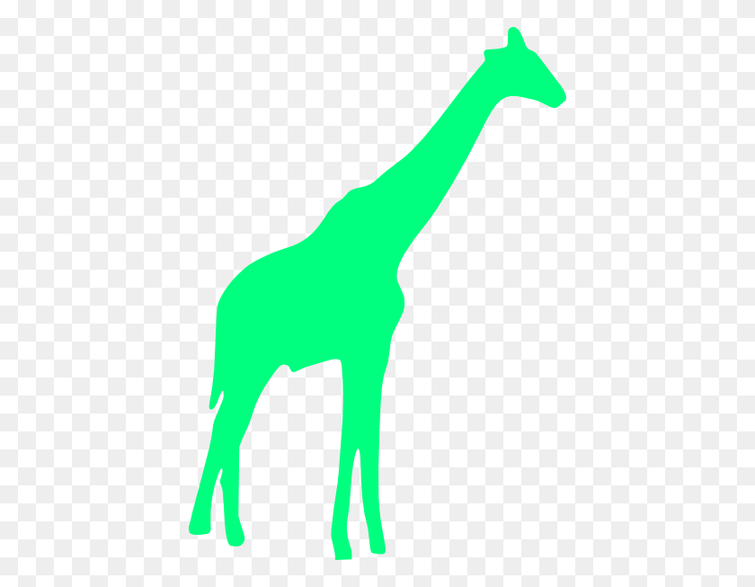 Giraffe Clipart Lime Green - Giraffe Baby Clipart