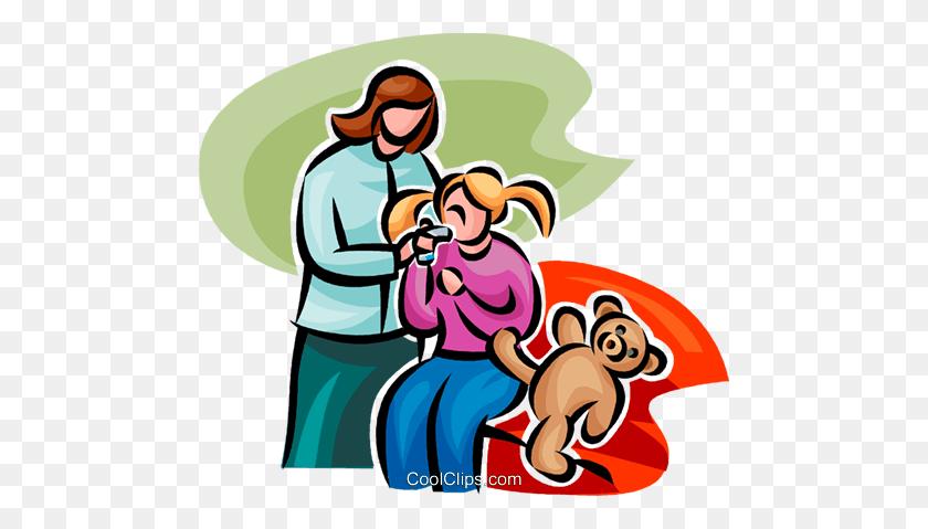 Girl - Doctors Office Clipart