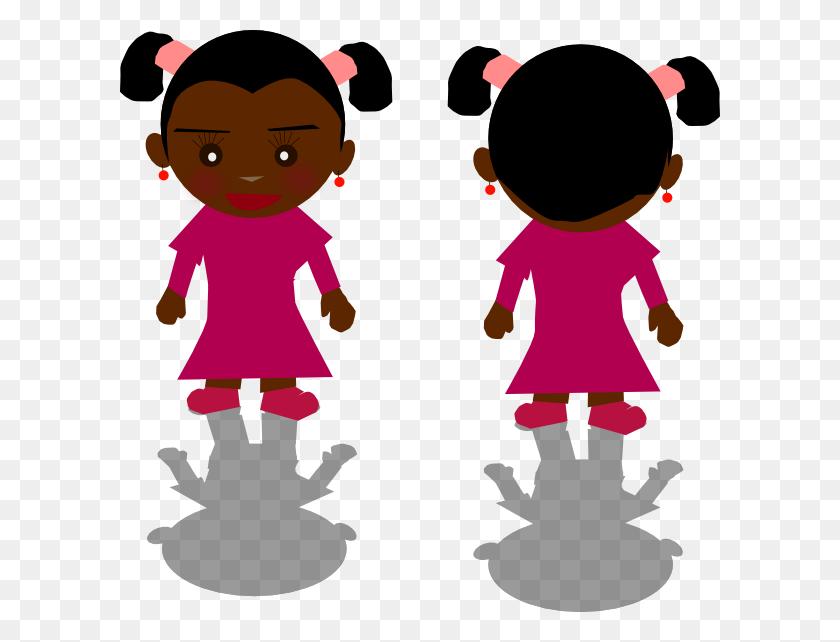Girl Clip Art - Twin Girls Clipart