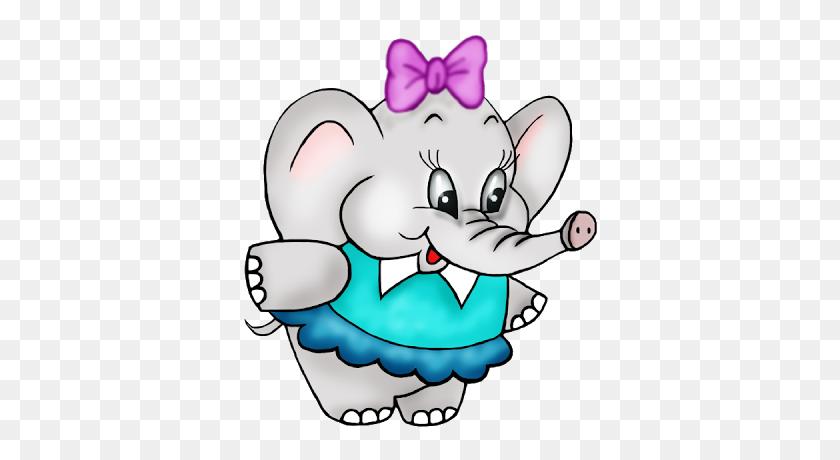 Girl Clipart Elephant - Cartoon Girl Clipart