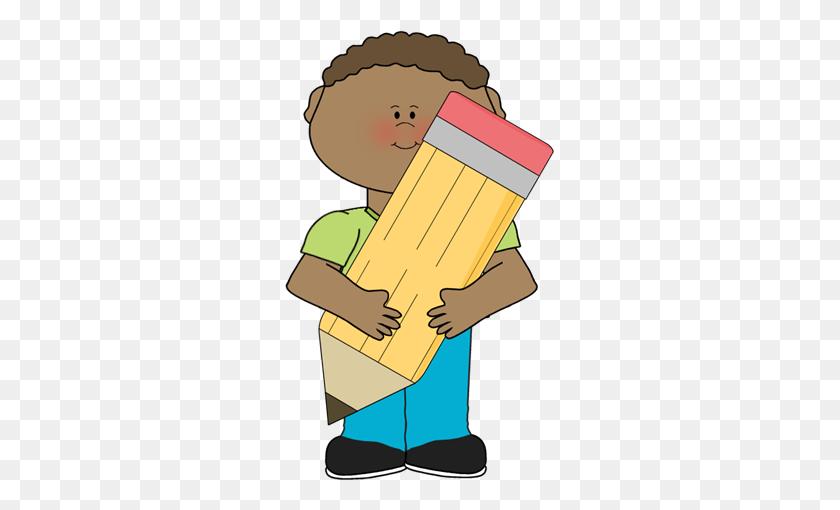 Girl Holding Big Crayon Crayon Clipart, Explore Pictures - Crayon Clipart