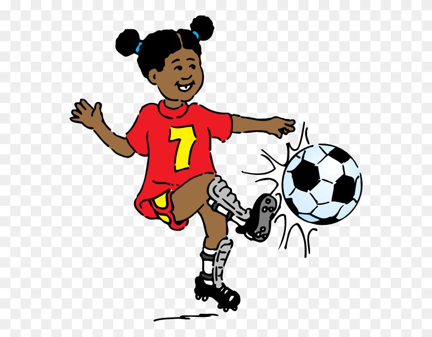 Girl Playing Soccer Clip Art - Girl Playing Soccer Clipart