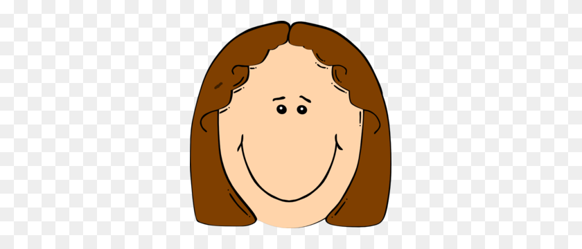 Girl Smiley Face Clipart - Dimples Clipart