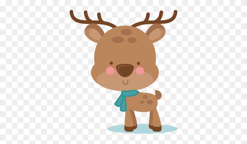 Girl Winter Deer Scrapbook Cute Clipart - Deer Clipart Silhouette